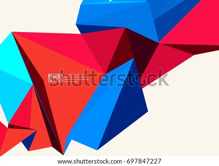 stock-vector-vector-blue-red-color-triangle-design-templates-brochures-flyers-mobile-technologies