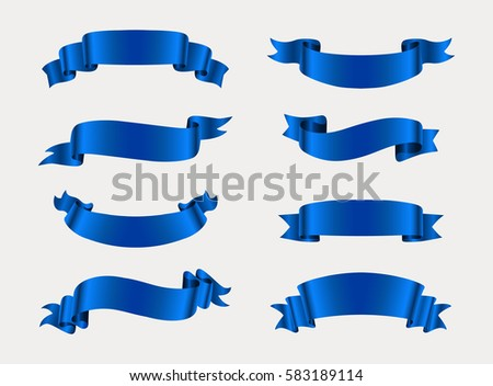 vector blue ribbonsribbon