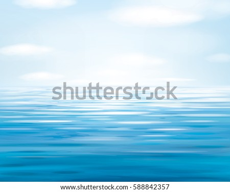 vector blue sea  and sky