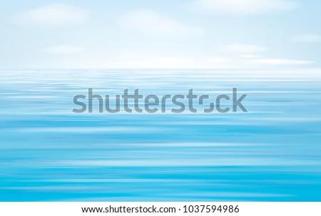vector blue sea   background