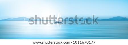 vector blue sea  sky