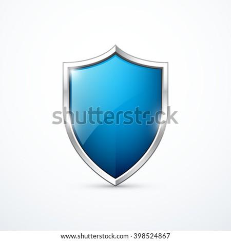 Vector blue shield Сток-фото ©
