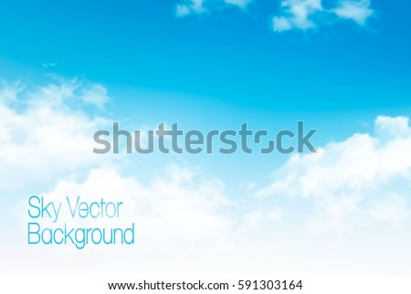 vector blue sky panorama with