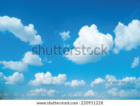 vector blue sky with clouds