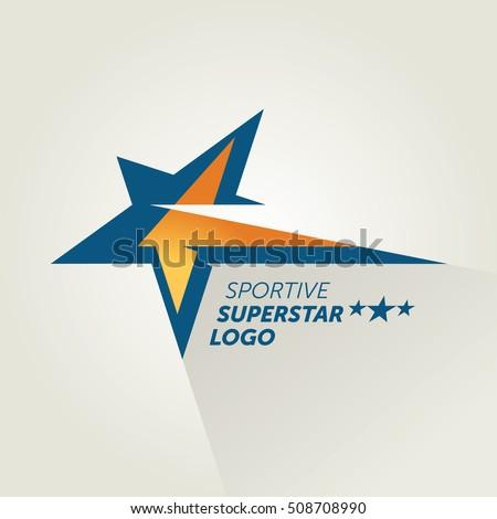 vector blue sportive star