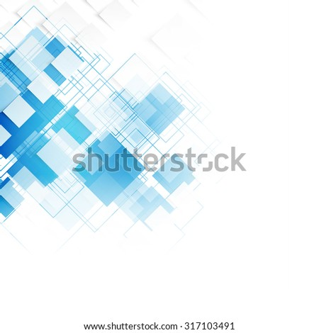 vector blue squares abstract