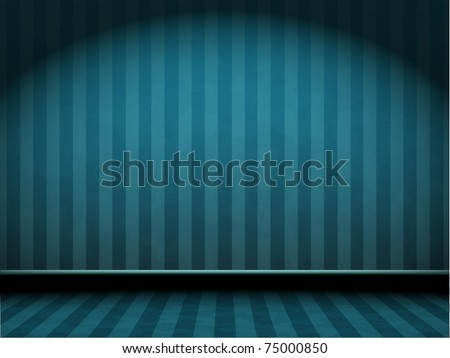 vector blue striped room