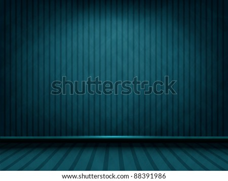 vector blue striped room with