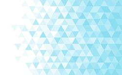 Vector blue triangular mosaic pattern. Abstract geometric polygonal background.