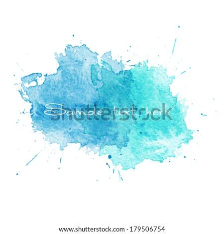 vector blue watercolor splatter