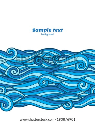 vector blue waves pattern card