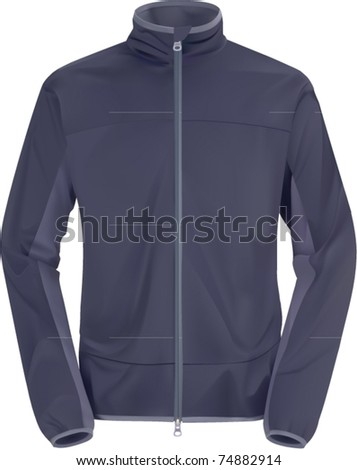 vector blue windstopping jacket