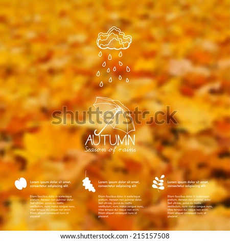 vector blurred autumn leaves