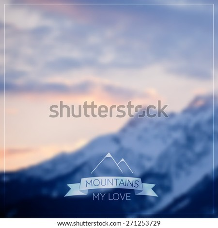 vector blurred background   ski