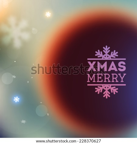 Vector Blurred Christmas Ball. Xmas Bauble for Holiday Design. Merry Xmas Label.