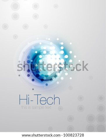 Vector blurred dotted shape abstract background
