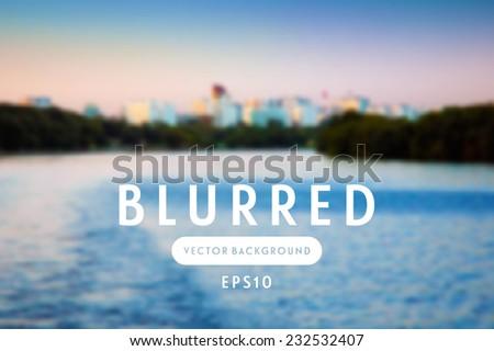 vector blurred retro