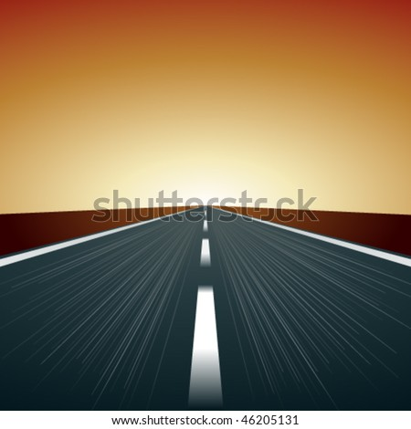 vector blurred road