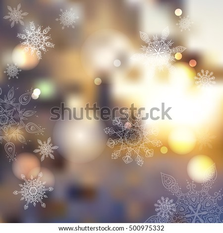 vector blurred winter abstract