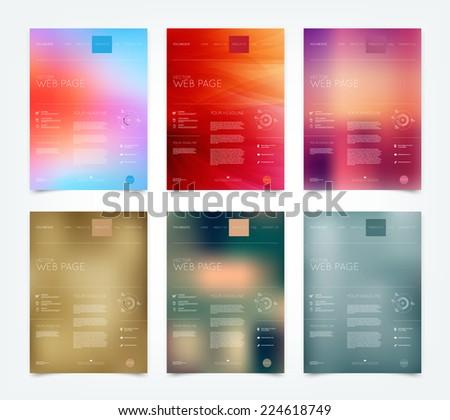 vector blurry bokeh website