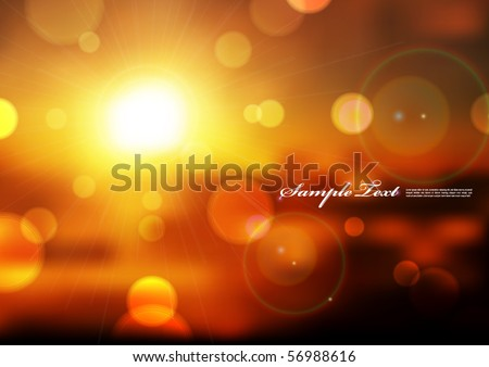 vector blurry lights