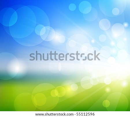 vector blurry summer view with
