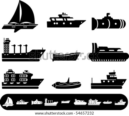 Vector- Boat and Ship icons