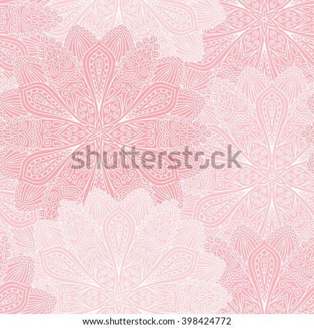 stock vector vector boho chic flower seamless pattern elegant floral background for wallpaper gift paper 398424772 - Каталог — Фотообои «Цветы»