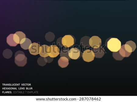 vector  bokeh blured lights