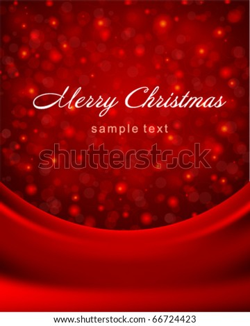 Vector bokeh card with red silk