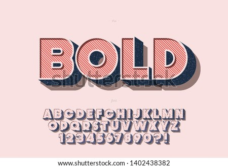 Vector bold font colorful style