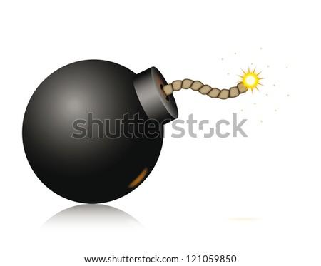 Vector bomb icon isolated