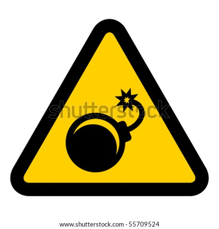 vector bomb warning sign