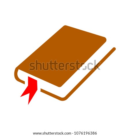 vector book symbol - education icon isolated