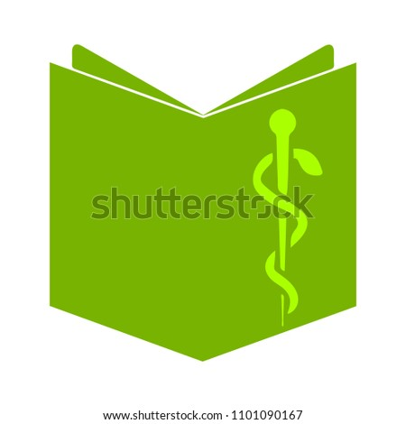 vector book with pen sign, education icon - medical symbol isolated