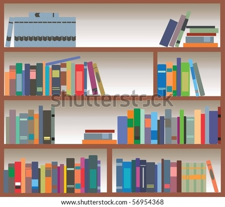 Vector bookcase