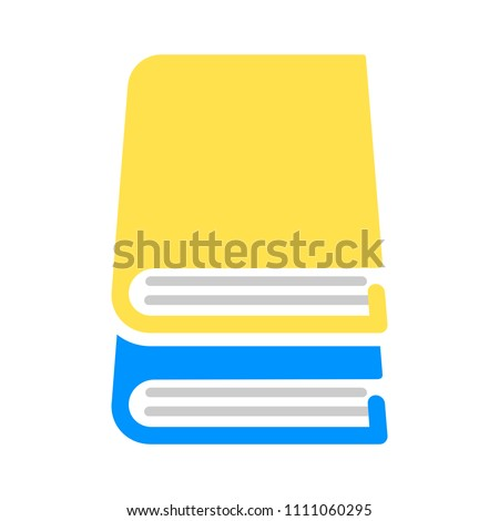 vector Books illustration symbol isolated -education icon, bookstore sign