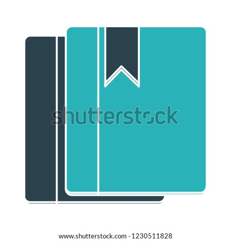 vector books library - address notebook sign illustration -organizer book, education icon isolated