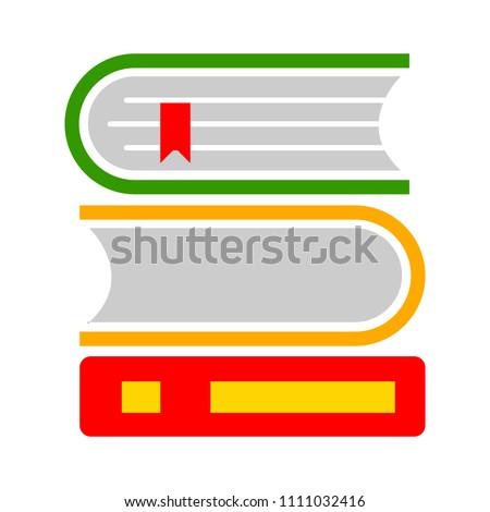 vector Books library illustration - literature symbol, education icon