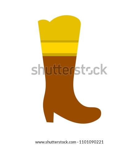 vector Boots illustration, footwear isolated symbol - fashion wear icon