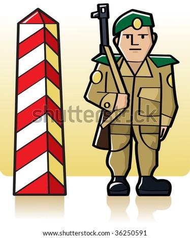 vector border guard