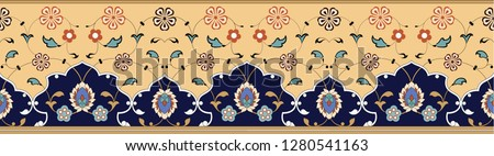 Vector border in East style. Suitable for decoration of various frames and decorations in Islamic style.