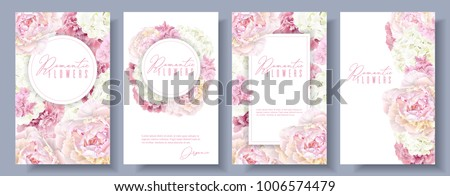 vector botanical banners set