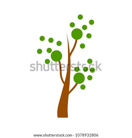 vector botany forest  abstract