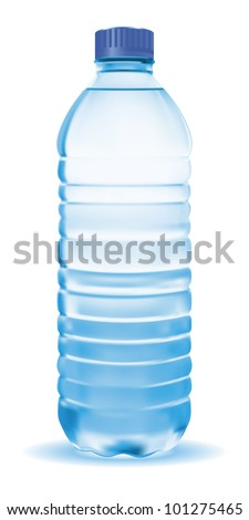 vector bottle with clean blue