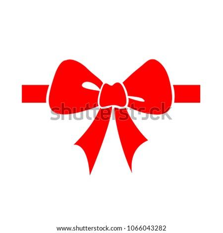 vector bow ribbon icon - ribbon bow illustration, holiday symbol - celebration element