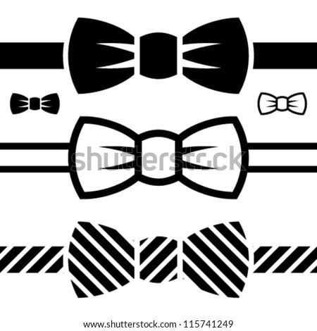vector bow tie black symbols Foto d'archivio ©