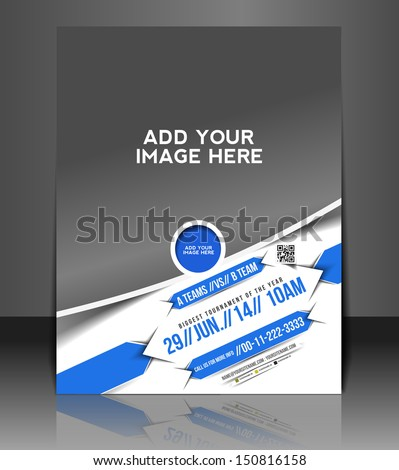 Vector Boxing Competition Flyer Magazine Cover & Poster Template