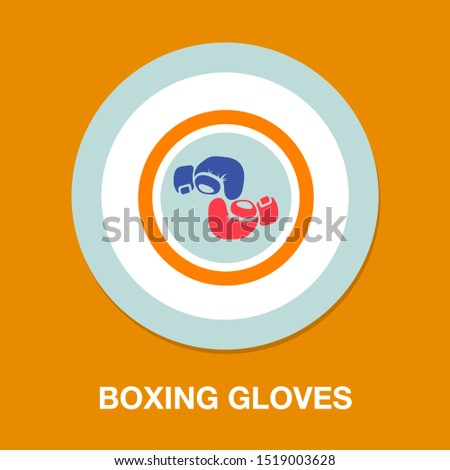 vector boxing gloves, boxing icon, punch symbol, fight