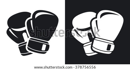 vector boxing gloves icon two